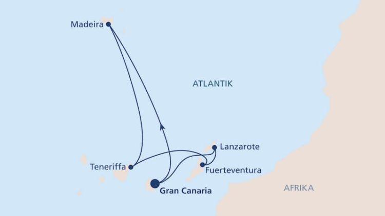 AIDAnova Route